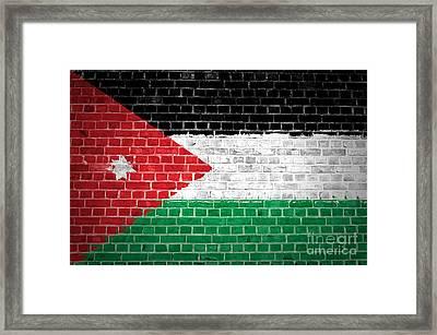 Brick Wall Jordan Framed Print by Antony McAulay