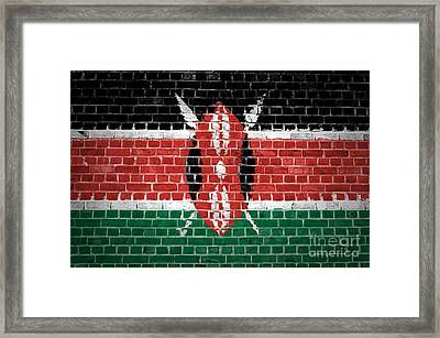 Brick Wall Kenya Framed Print