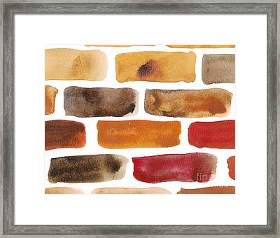 Brick Wall Framed Print by Kerstin Ivarsson