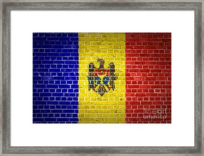 Brick Wall Moldova Framed Print