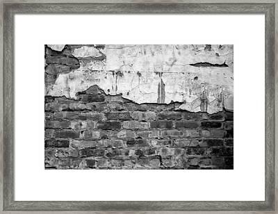 Brick Wall Monochrome Framed Print
