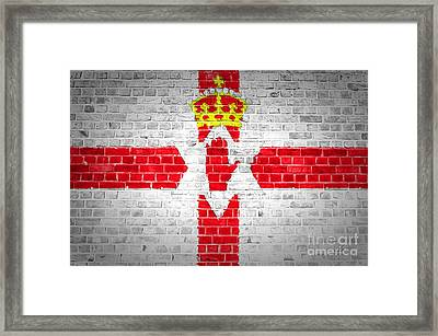 Brick Wall Northern Ireland Framed Print by Antony McAulay