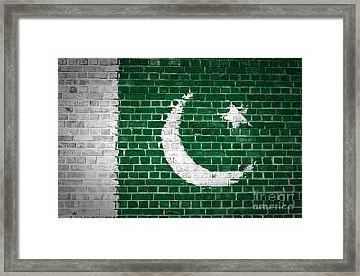 Brick Wall Pakistan Framed Print