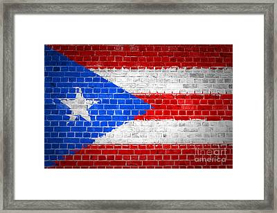 Brick Wall Puerto Rico Framed Print