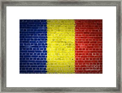 Brick Wall Romania Framed Print