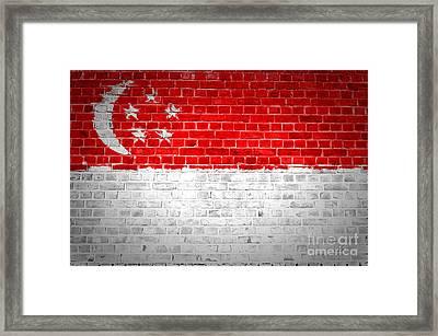 Brick Wall Singapore Framed Print by Antony McAulay