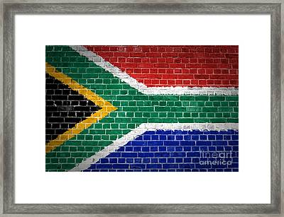 Brick Wall South Africa Framed Print by Antony McAulay