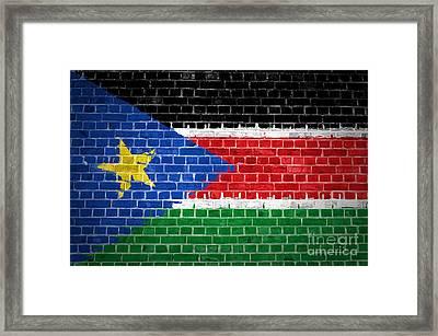 Brick Wall South Sudan Framed Print by Antony McAulay