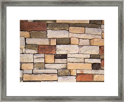 Brick Wall Framed Print by Steven Raniszewski