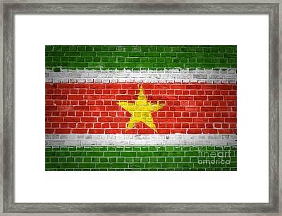 Brick Wall Suriname Framed Print