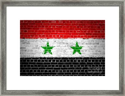 Brick Wall Syria Framed Print