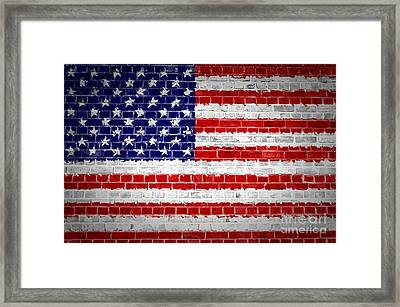 Brick Wall United States Framed Print