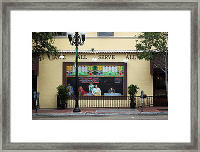 Brick Window Framed Print