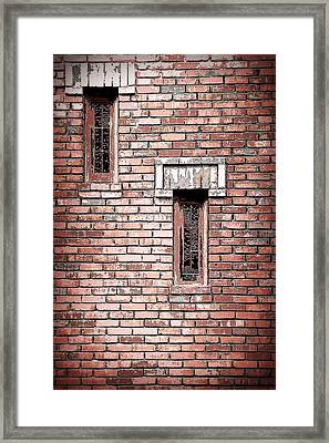 Brick Work Framed Print by Melanie Lankford Photography