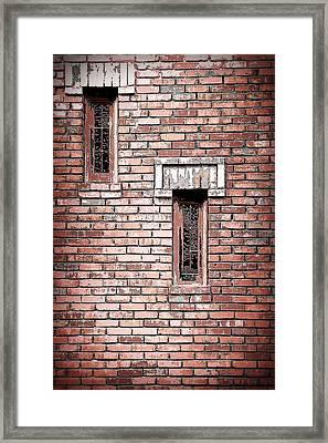Brick Work Framed Print