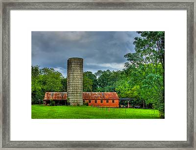 Brick Work Framed Print by Reid Callaway