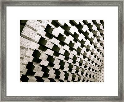 Bricked Framed Print by Jon Berry OsoPorto