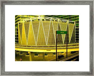 Brickell Station In Miami Framed Print