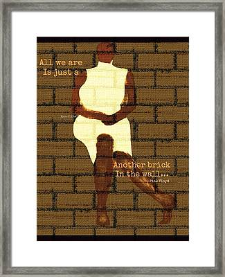 Brickinthewall Framed Print by Romaine Head