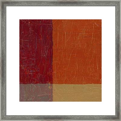 Bricks And Reds Framed Print by Michelle Calkins