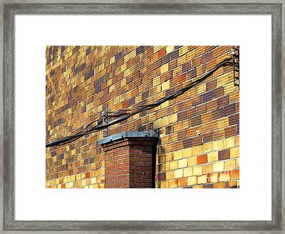 Bricks And Wires Framed Print by Ethna Gillespie