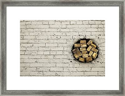 Bricks In The Wall - Abstract Framed Print
