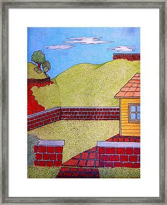 Bricks Y Casa El Lado Framed Print