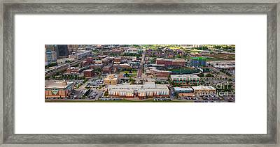 Bricktown Ballpark A Framed Print by Cooper Ross