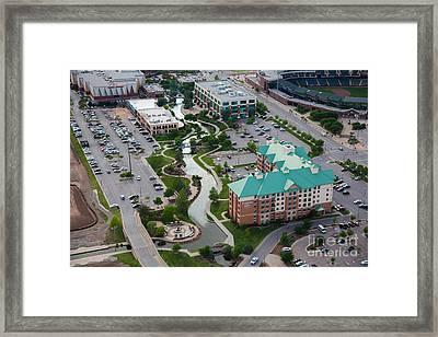 Bricktown Ballpark C Framed Print by Cooper Ross