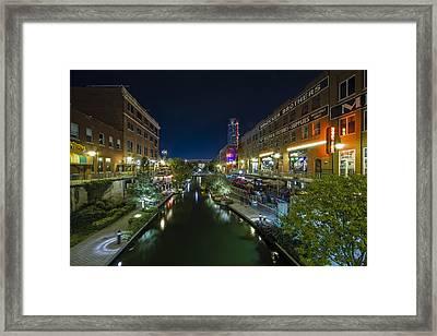 Bricktown Canal Framed Print by Jonathan Davison