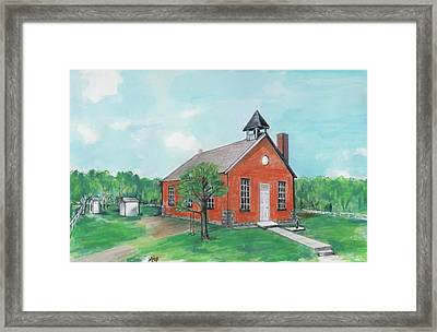 Bricktown School Framed Print by Mary Armstrong