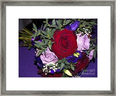 Bridal Bouquet Framed Print by Gillian Singleton