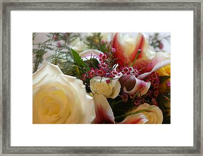 Bridal Flowers Framed Print
