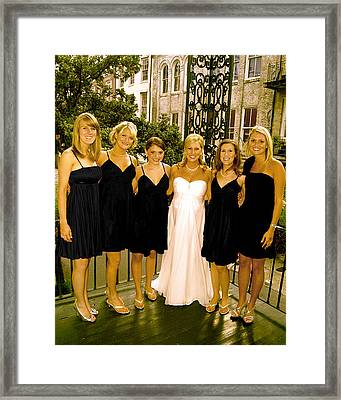 Bridal Party Framed Print by Brett Kurtz