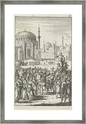 Bridal Sale At The Babylonians, Jan Luyken Framed Print by Jan Luyken And Jan Bouman
