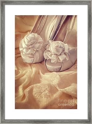 Bridal Sandals Framed Print by Amanda Elwell