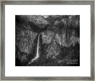 Bridal Veil Fall  Framed Print