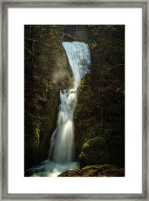 Bridal Veil Falls Framed Print by Joe Hudspeth
