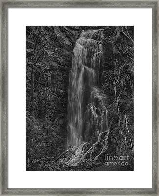 Bridal Veil Falls At Spearfish Canyon South Dakota Framed Print