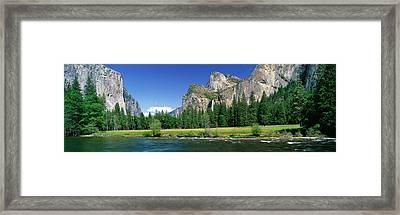 Bridal Veil Falls, Yosemite National Framed Print by Panoramic Images