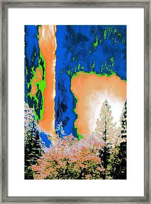 Bridalveil Fall Abstract Framed Print