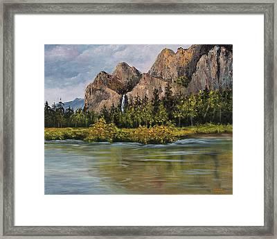 Bridalveil Fall Yosemite Framed Print by Darice Machel McGuire