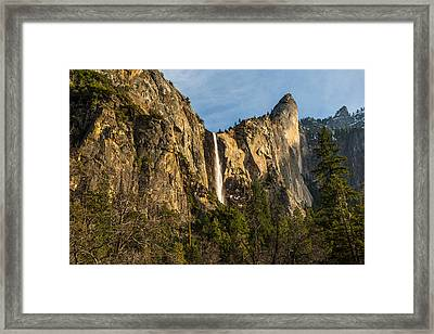 Bridalveil Falls Framed Print by Mike Lee