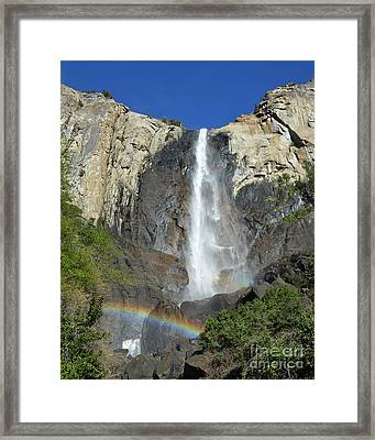Bridalveil Falls With Rainbow Framed Print