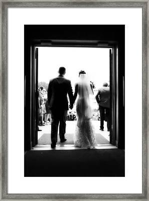 Bride And Groom Framed Print by Rick Berk