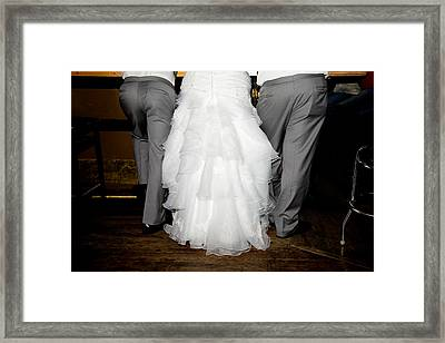 Framed Print featuring the photograph Bride At The Bar by Courtney Webster