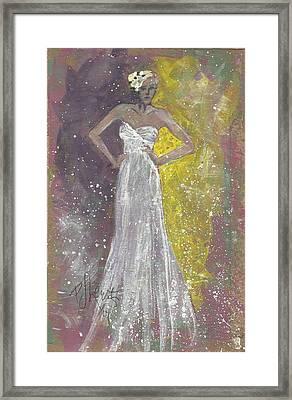 Bride Deciding Framed Print by P J Lewis
