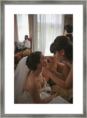 Bride Eyeliner Framed Print by Mike Hope