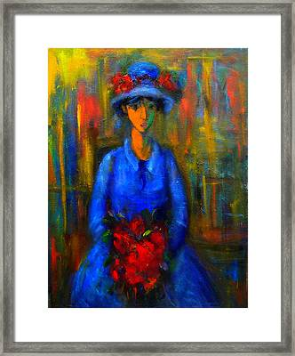 Bride In Blue  Framed Print