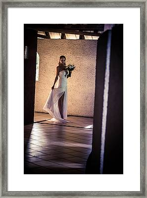 Bride. In Color Framed Print by Jenny Rainbow